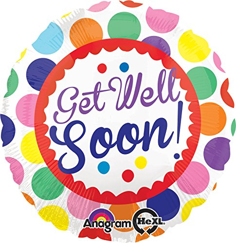 Amscan standaard C Get Well Soon Dots Ballon