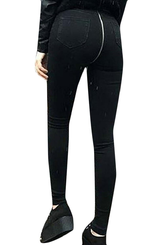 chenshiba-JP 女性の伸縮性デニムパンツをプッシュバックジッパージーンズのズボン