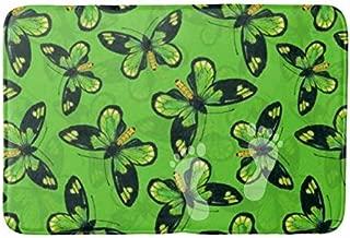 PPSholder-Bathroom mat Absorbent Bathroom Rug (16 x 24 inch) Plush Bathroom Decorative mat Indoor Rug,Queen Victoria s birdwing Butterfly Bath mat