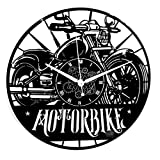 Instant Karma Clocks Orologio in Vinile da Parete Motociclismo Motorbike Moto Uomo Strada Rider, Motorcycle, Moderno, Idea Regalo