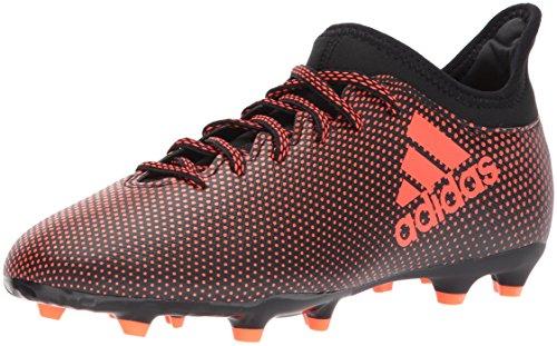 adidas Boy's X 17.3 FG Soccer Shoe, Black/Solar RED/Solar...