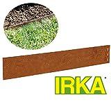 IRKA 10x Rasenkante Corten Stahl schmal 18 cm Mähkante Beeteinfassung Metall 1 mm