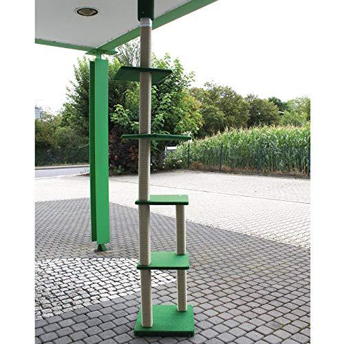 CLEVERCAT Outdoor Kratzbaum Terrasso AVA, deckenhoch ideal für den Außenbereich Made in Germany