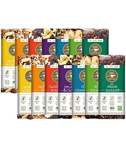 eat Performance® Big Box Energie Riegel (14x 40g) - Bio, Paleo, Vegan, Glutenfrei, Ohne Zuckerzusatz, Aus 100% Natürlichen Zutaten