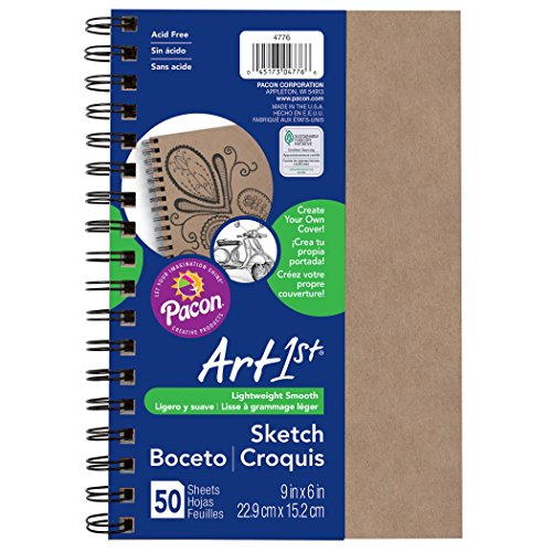 Pacon PAC4776 Art1st Create Your Own Cover Sketch Diary, 9