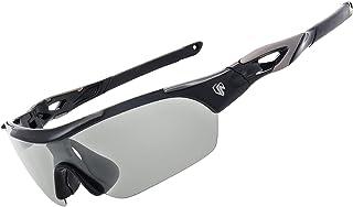 عینک آفتابی پلاریزه زنانه مردانه UKNOW ، عینک آفتابی فتوکرومیک با 2 عدسی قابل تعویض ، عینک آفتابی محافظ UV برای دوچرخه سواری ، ماهیگیری ، رانندگی ، دویدن