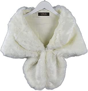 RoRoDox Warm Faux Fur Wedding Shawl Perfect for Wedding/party/show