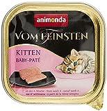 animonda Vom Feinsten Kitten, Nassfutter für wachsende Katzen im ersten Lebensjahr, Baby-Paté, 32 x 100 g