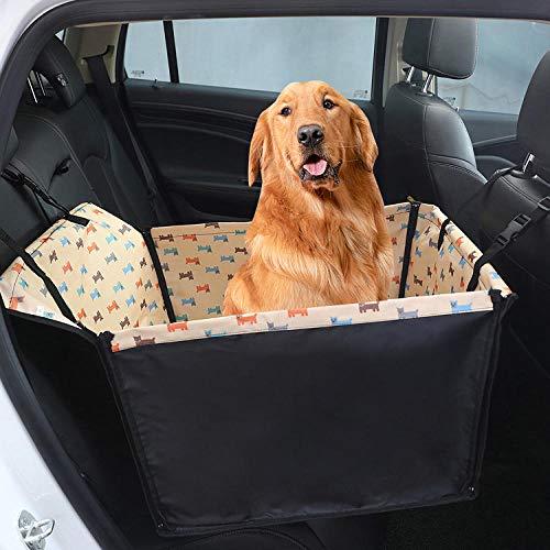 Funda Asiento Coche Perro Individual Patrón de Cachorro Amarillo Transportin Perro Grande...