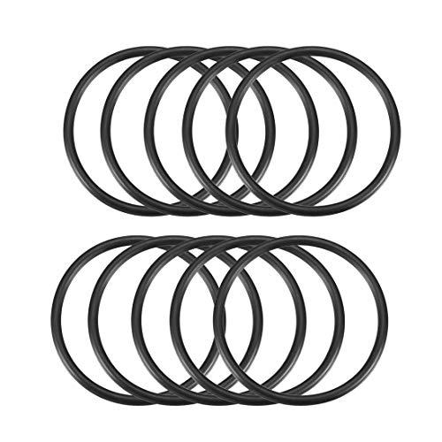 10 Stück 3 mm x 51 mm Gummidichtung Ölfilter O-Ringe Dichtungen Schwarz de