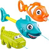 JOYIN 3 Pack Animal Character Water Guns for Kids,...