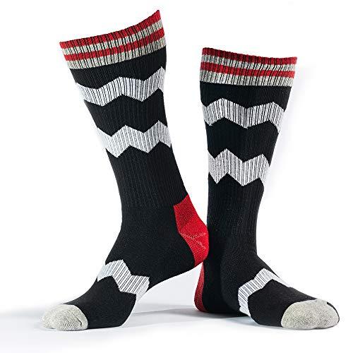 RideMore - Skatesocken Herren und Damen | bunte gemusterte lange Socken für Skater und Sportler (NacNac, 40-46)