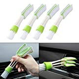 ZaCoo 4 Pcs Car Air Vent Duster Mini Air Conditioner Cleaner and Brush Auto Cleaning Tool