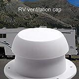 greatdaily Cubierta para ventilación de techo de caravana, plástico ABS, color blanco, 34,5 x 71,5 x 80 mm