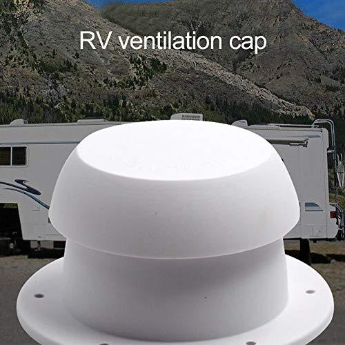 greatdaily - Cubierta para ventilación de Techo de Caravana (plástico ABS, Cierre de Cremallera, 34,5 x 71,5 x 80 mm), Color Blanco
