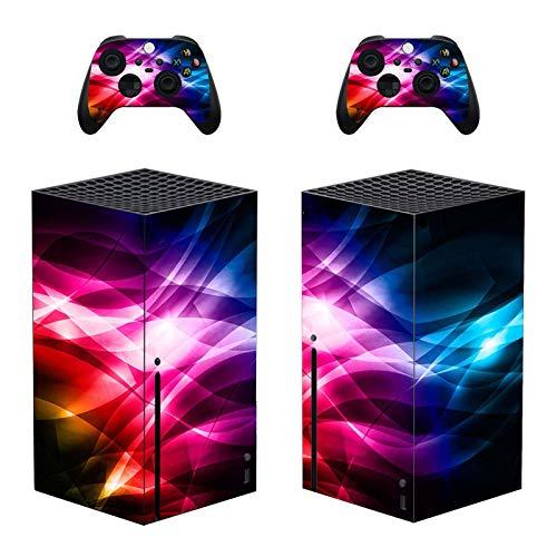 Cananmite Stay Sky Skin Sticker für Xbox Series X Konsole und Controller (XBOX nicht im Lieferumfang enthalten) (braun)