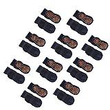 Esaroll Toddler Socks with Grippers Non Slip Trampoline Socks for Kids 9-14 Years 10 Packs Navy Blue