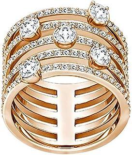 Swarovski Creativity Wide Rose Gold Crystal Band Ring - Size 16.56 mm
