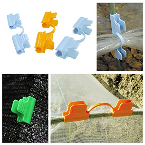 Yunobi 10 Stück Mehrzweck-Kunststoff-Garten-Gewächshaus-Rahmen, Schnappklemme, reißfeste Schutzfolie, für Gewächshaus, Garten