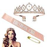 Corona Princesa,Crystal Corona de cumpleaños faja para fiestas de cumpleaños, reina decoración de fiesta de cumpleaños,Diadema Cumpleaños Banda Faja Fiesta de Decoración Accesorios Regalo