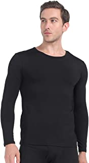 Mens Thermal Shirts Fleece Lined Top Long Sleeve Compression Base Layer