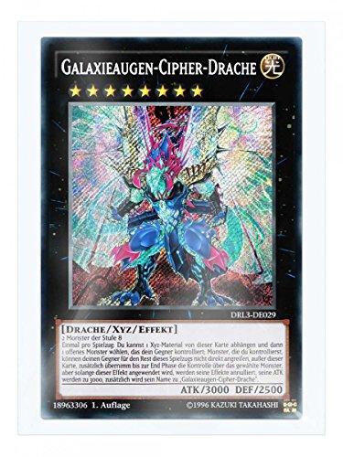 DRL3-DE029 Galaxieaugen-Cipher-Drache 1. Auflage im Set mit original Gwindi Kartenschutzhülle