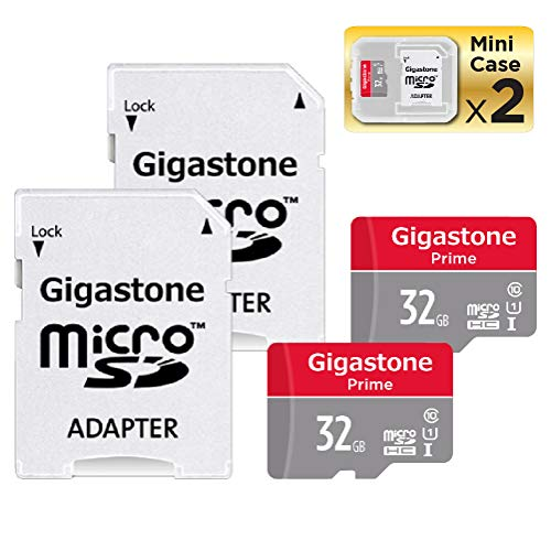 Gigastone 32GB 2-Pack Micro SD Card, Camera Plus, Nintendo Switch Compatible, High Speed 90MB/s, Full HD Video Recording, Micro SDHC UHS-I A1 Class 10