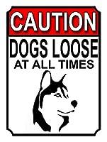 注意犬はいつでもルーズ 金属板ブリキ看板警告サイン注意サイン表示パネル情報サイン金属安全サイン