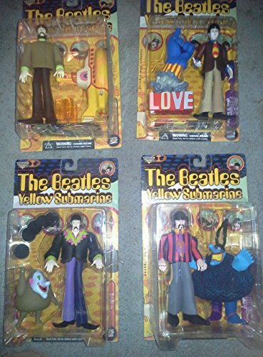 Beatles The Yellow Submarine John Paul George Ringo 8' Action figure Set (1999 McFarlane)
