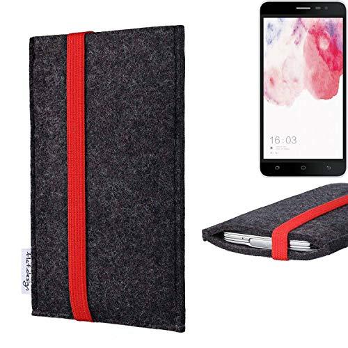 flat.design vegane Handy Tasche Coimbra für Hisense F20 Dual-SIM - Schutz Hülle Tasche Filz vegan fair rot