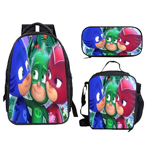PJ Masks Mochila para niños Mochila Mochila Morral Bolsa Wild Style Casual Niños y Muchachas Frescas Tendencia de la Moda Deportes para Niño y Niña (Color : A28, Size : 30 X 16 X 40cm)