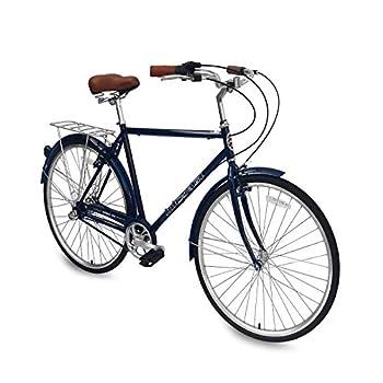 Micargi Roasca NV3 26 inch Men s Shimano Nexus Inter-3 Three Speed City Bike Hi-Ten Steel Frame Black Dark Blue  Dark Blue