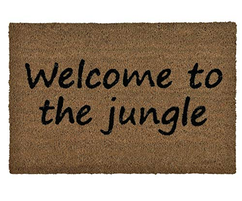 ANDREA HOUSE Felpudo de Fibra de Coco Welcome to The Jungle