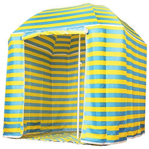 CAPTURE Seaside BS-220 - Tenda da spiaggia o ombrellone, 2 in 1, ombrellone classico o con tenda, porta e tappeto da pavimento