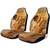 TABUE Juego de 2 fundas para asientos delanteros cultura egipcia antigua, universales, para camiones y todoterrenos