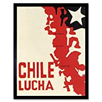Chile Freedom Pinochet Fight Revolution War Art Print Framed Poster Wall Decor 12X16 Inch 宣伝チリ戦い革命戦争ポスター壁デコ