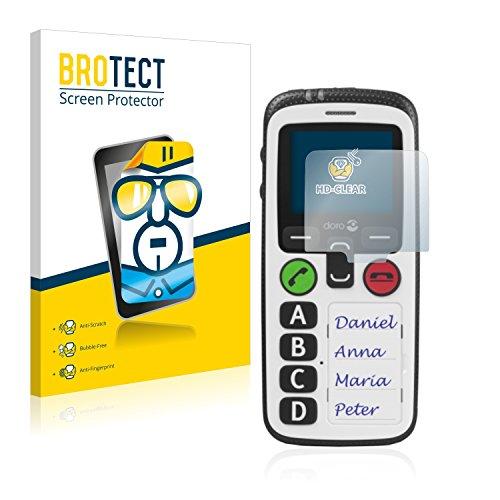 BROTECT Schutzfolie kompatibel mit Doro Secure 580 (2 Stück) klare Bildschirmschutz-Folie
