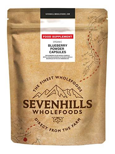 Sevenhills Wholefoods Heidelbeer-Pulver Kapseln Bio 500mg x 90