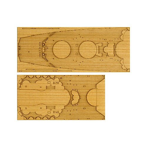 Japanese Battleship Yamato Wooden Deck Sheet Detail Up Part No.45 1/350 #12645