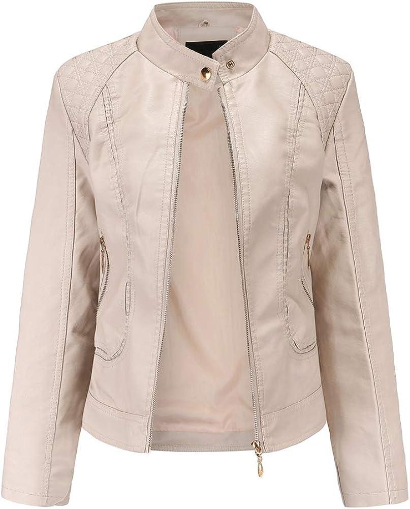 San favorite Diego Mall Women's Trendy Faux Leather Jacket Fashion Moto Short PU