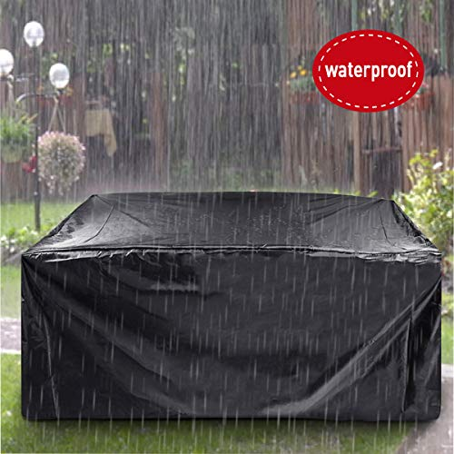ESSORT Patio Furniture Covers, Extra Large Outdoor Furniture Set Covers Waterproof, Rain Snow Dust Wind-Proof, Anti-UV, Fits for 12 Seats (124'x63'x29' 210D)