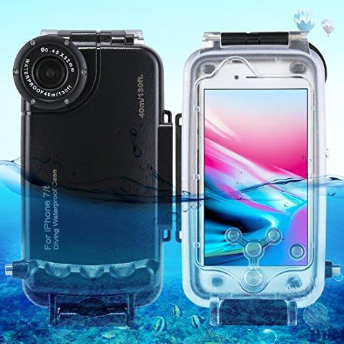 Fone-Stuff iPhone 7 Impermeabile Custodia Subacquea, Profondo 40M Immersioni Mare / 130ft Fotografia Subacquea coperture della Copertura Cassa del Telefono - Nero