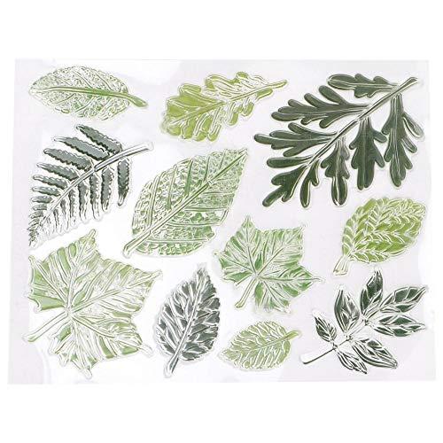 Duidelijke stempels DIY-account Plakboek Transparant groen bladthema Veelzijdig Versheid Zegel Fotoalbumkaart Make Art Decoration