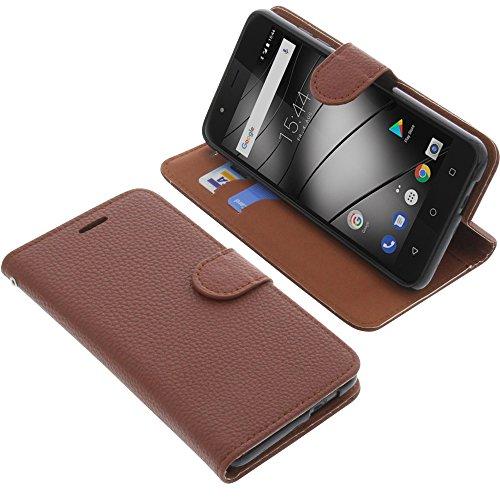 foto-kontor Tasche kompatibel mit Gigaset GS270 / GS270 Plus Book Style braun Schutz Hülle Buch
