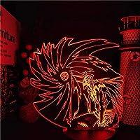 GMYXSW 3D LEDの夜のライト黒崎いちごの禁止香アニメランプランプランプランプランプランプ男の子と女の子16色