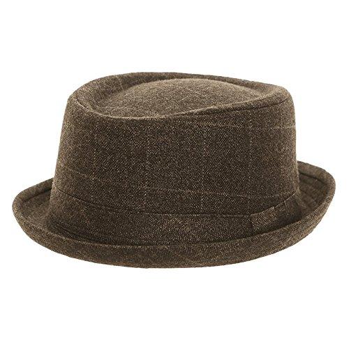 Tweed Hawkins Pork Pie Hat