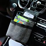 LUFOX Air VentCarPocket Caddy Organizer Holder with Charging Port for Phone,Cell Phone,Pencil,Charger (Gray)