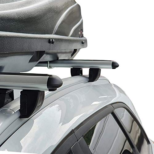 RE&AR Tuning Para Suzuki Grand Vitara 3D 1999-2005 Barras de techo Portaequipajes Aluminio Gris
