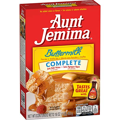 Aunt Jemima Buttermilk Complete Pancake and Waffle Mix, 1 Pound (Pack of 12)