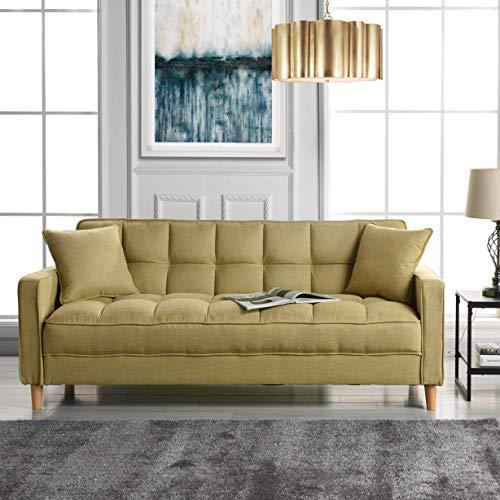Divano Roma Furniture Modern Sofas, Yellow